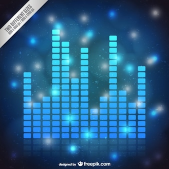 Blue audio bars background