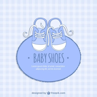Blue baby shoes card