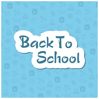 Blue back to school design with school elements