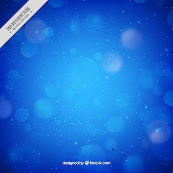 Blue background defocused bokeh