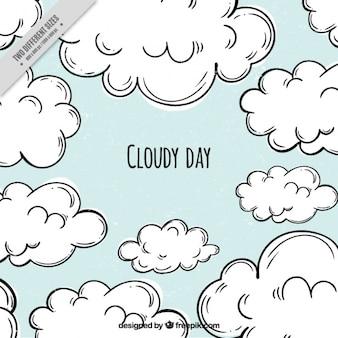 Синий фон облачный день