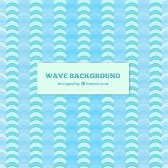 Blue background of waves