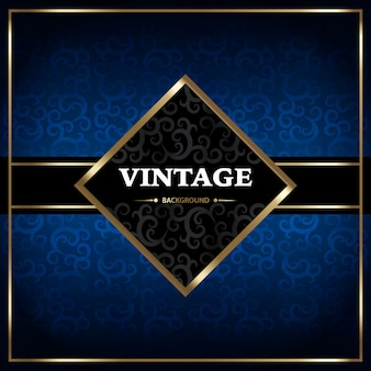 Blue background vintage design