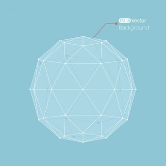 Blue background with a polygonal ball