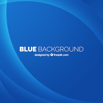 Blue background with abstract curves