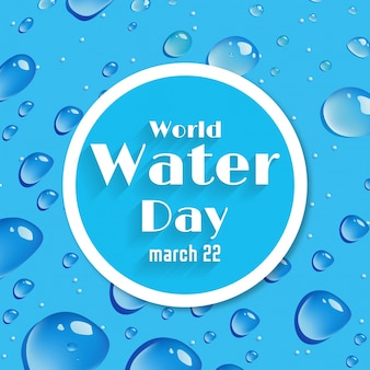 Blue background with bubbles, world water day