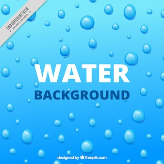 Blue background with drops
