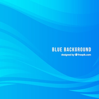 Blue background with elegant waves