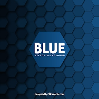 Blue background with hexagons