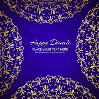 Blue background with mandala for diwali