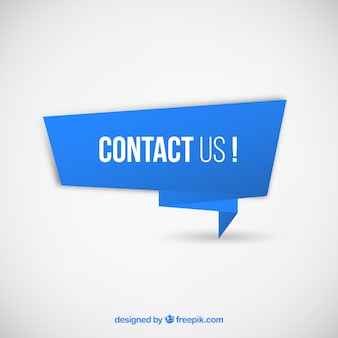 Blue banner with text contact us