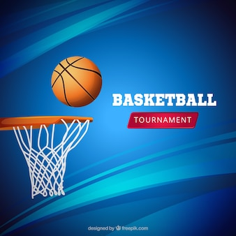 Blue basketaball background