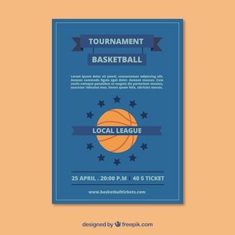 Blue basketball brochure