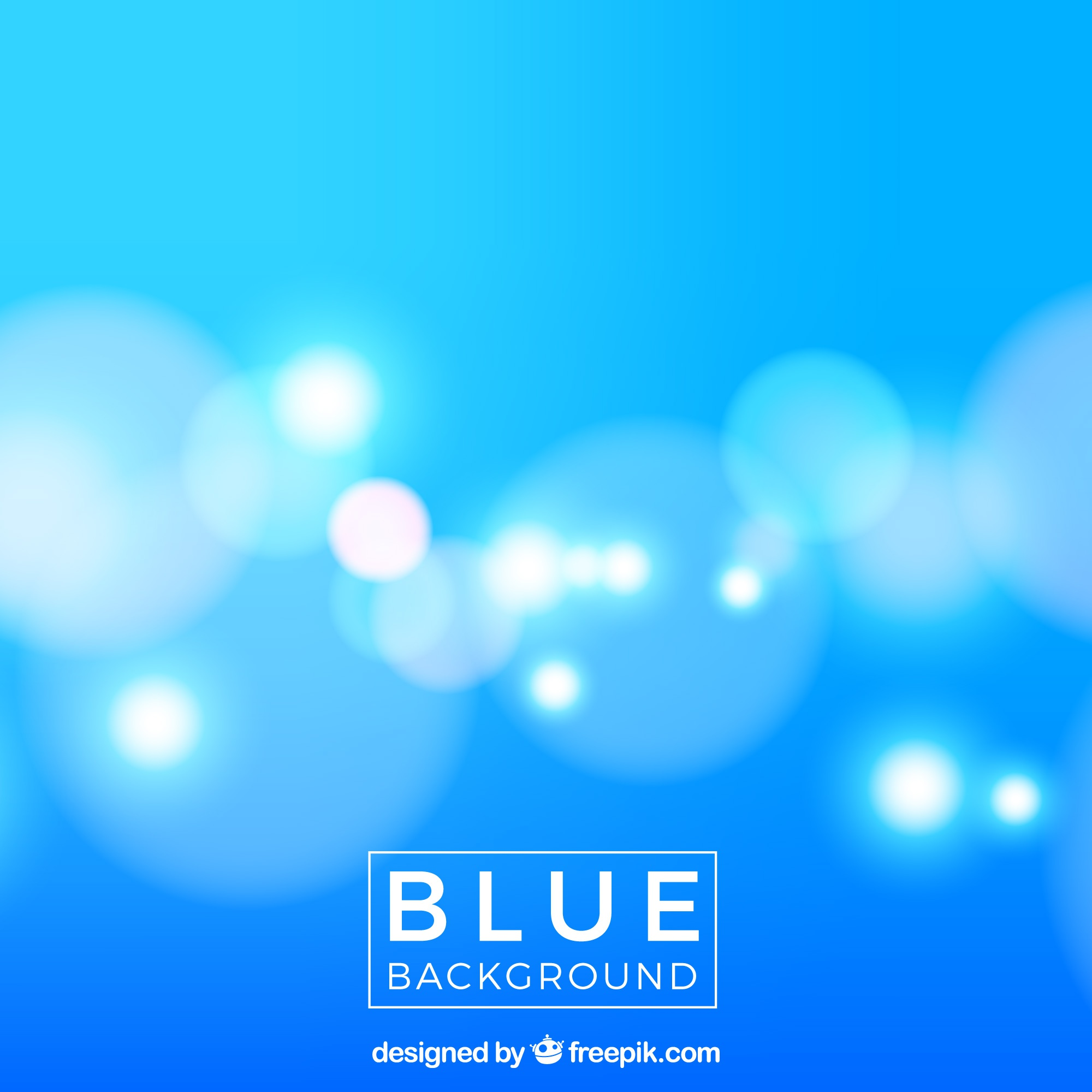 Blue blurred background with lights