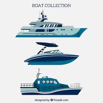 Blue boat collection