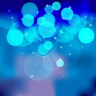 blue bokeh abstract light background vector illustration