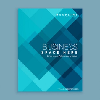 Blue business magazine cover template