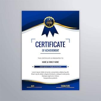 Blue certificate of studies