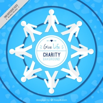 Blue charity background