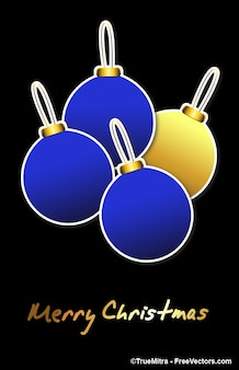 Blue christmas balls vector
