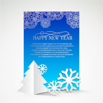 Blue christmas brochure
