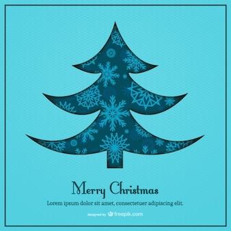 Blue Christmas card template blue