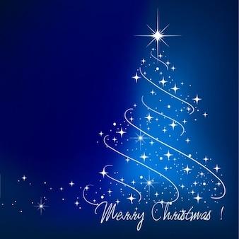 blue christmas tree vector illustration
