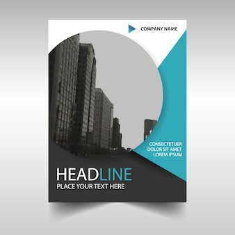 Blue circular modern annual report template