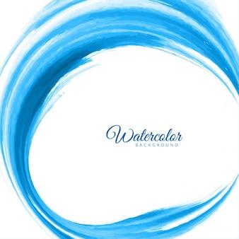 Blue circular watercolor