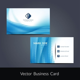 Blue color business card template