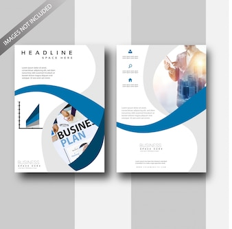 blue corporate business flyer