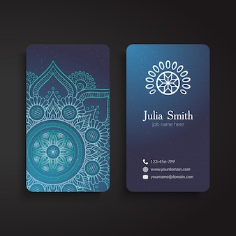 Blue corporate card, ethnic style