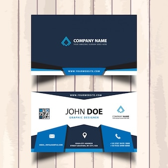 Blue corporate visit card