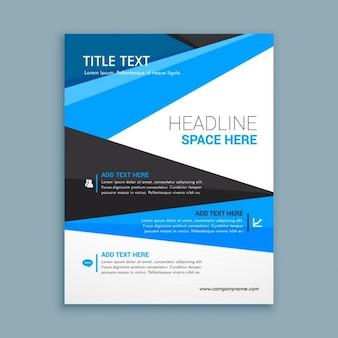 Blue corporative brochure template