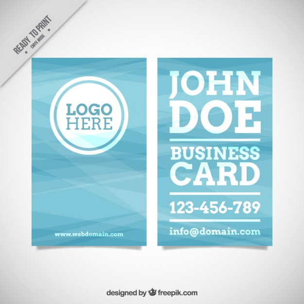 Blue corporative card in abstract style