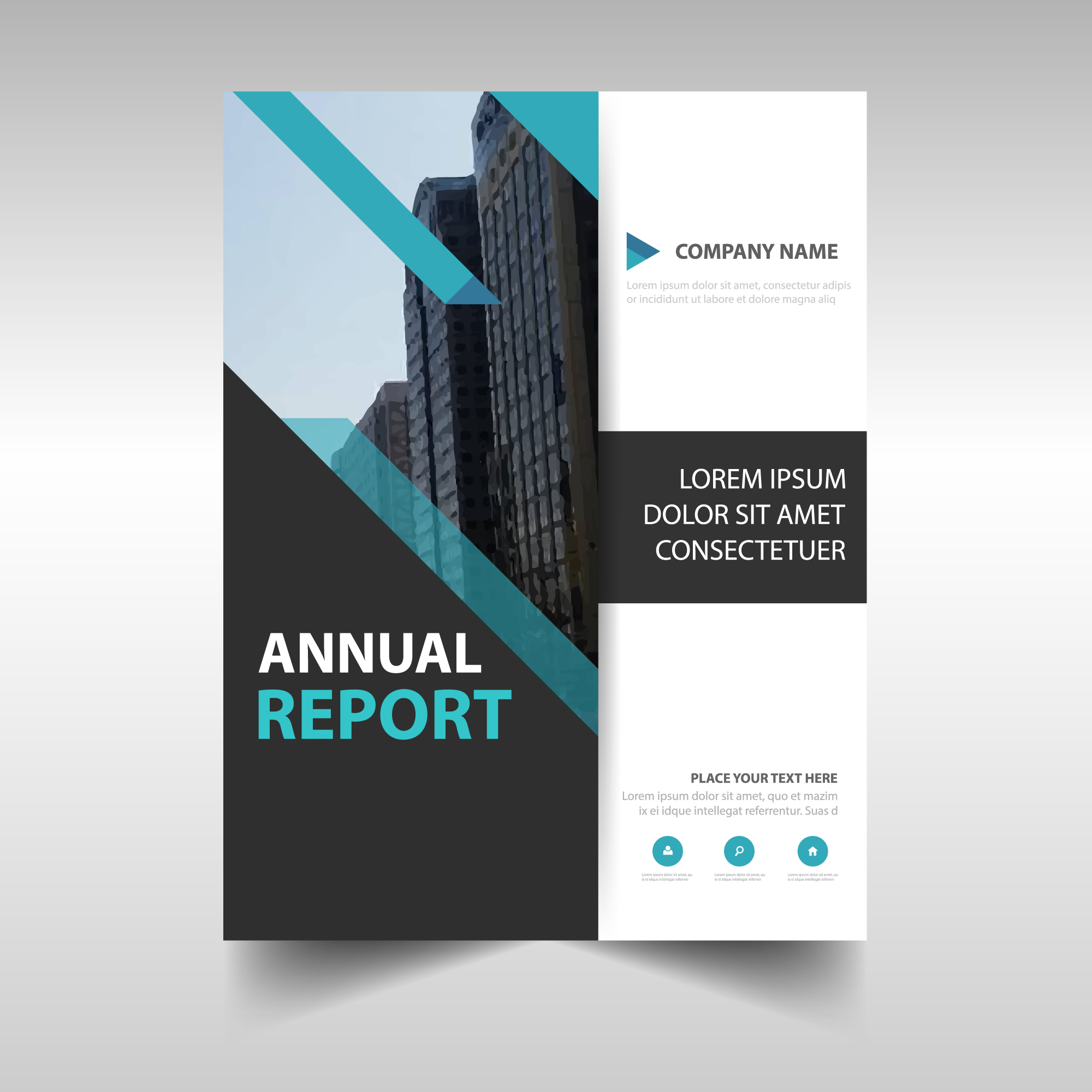 Blue creative annual report cover