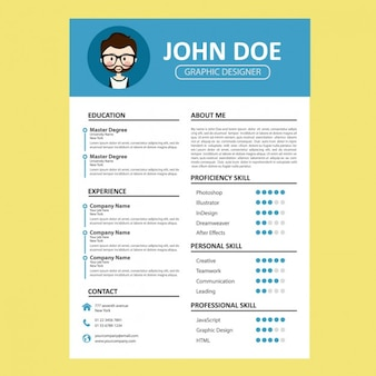 Blue curriculum template