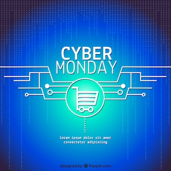 Blue cyber monday background