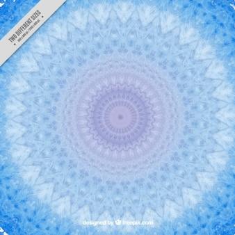 Blue decorative mandala background