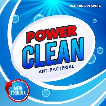 Концепция рекламной концепции Blue Detergent