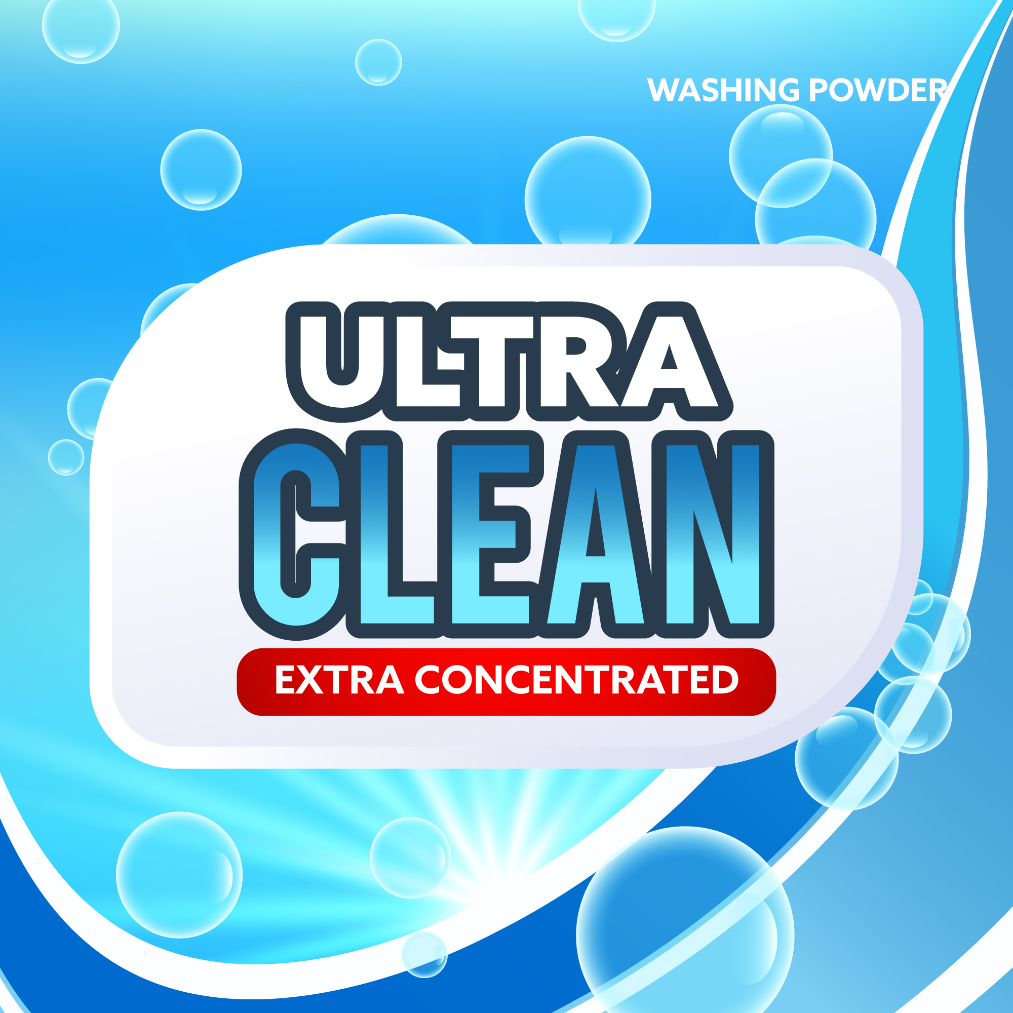 Blue Detergent Packaging Cover Concept