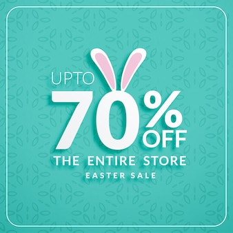 Blue discount card for easter