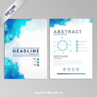 Blue dotted brochure