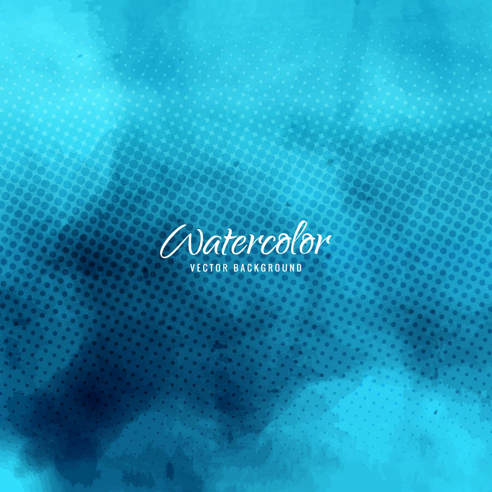 Blue dotted watercolor background