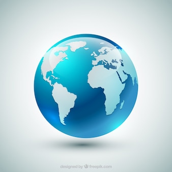 Blue earth globe