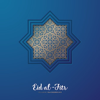 Blue eid al fitr design