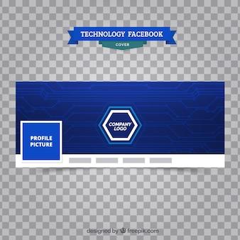 ブルーのフェイスブックカバー