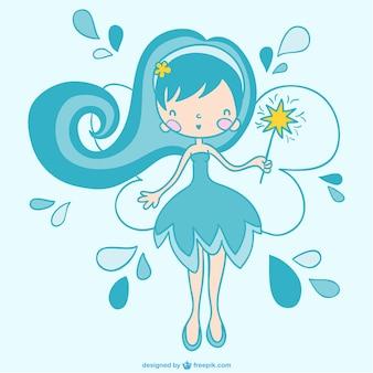 Blue fairy vector art