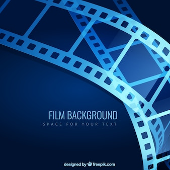 Blue film background