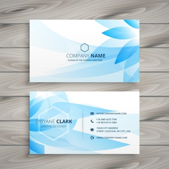 Blue flower business card